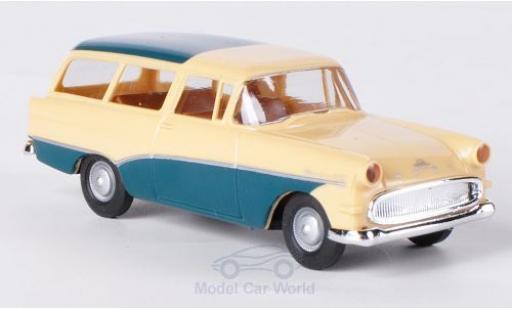 Opel Rekord 1/87 Brekina P1 Caravan beige/türkis miniature