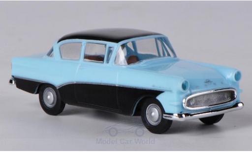Opel Rekord 1/87 Brekina P1 hellbleue/noire miniature