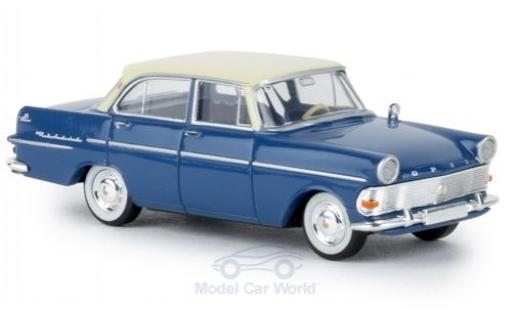 Opel Rekord 1/87 Brekina P2 bleue/beige TD miniature