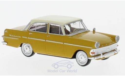 Opel Rekord 1/87 Brekina P2 Limousine dunkeljaune/beige
