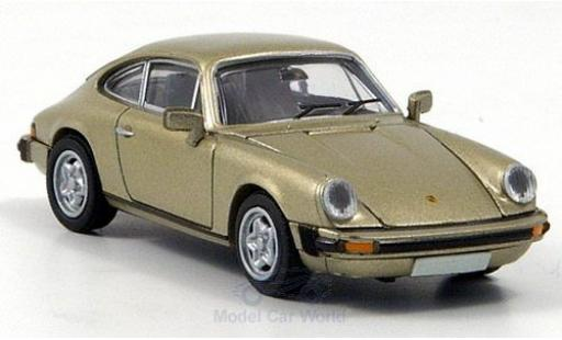 Porsche 911 1/87 Brekina Coupe métallisé beige miniature