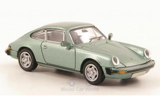 Porsche 911 1/87 Brekina Coupe métallisé verte miniature