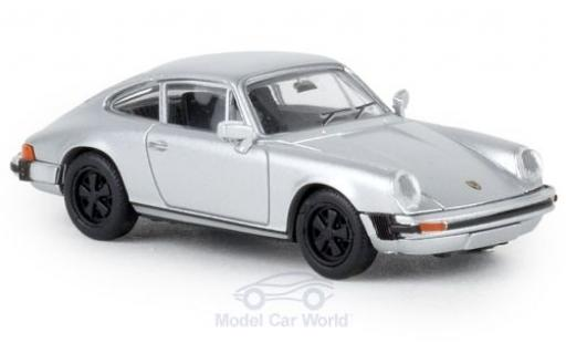 Porsche 911 1/87 Brekina G grise 1976 TD miniature