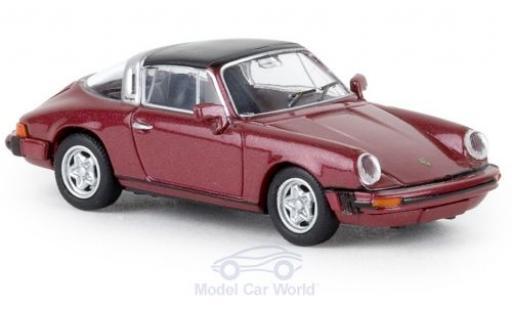 Porsche 930 Targa 1/87 Brekina 911 G metallise rouge 1976 TD miniature