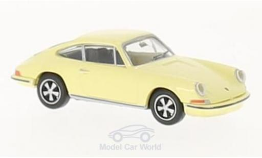 Porsche 911 SC 1/87 Brekina yellow diecast model cars