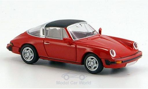 Porsche 911 Targa 1/87 Brekina Targa (G-Modell) rouge Dach abnehmbar miniature