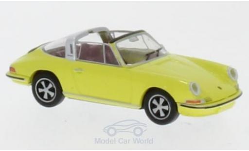 Porsche 911 Targa 1/87 Brekina yellow diecast model cars