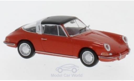 Porsche 911 Targa 1/87 Brekina rouge miniature