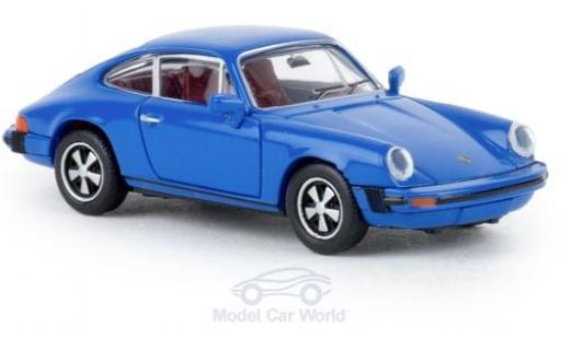 Porsche 912 1/87 Brekina G bleue 1976 TD miniature