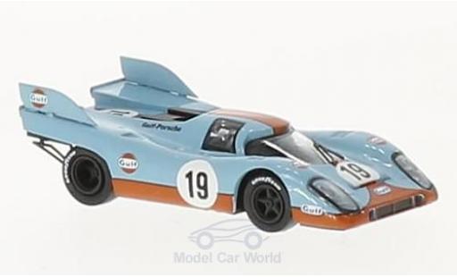 Porsche 917 K 1/87 Brekina K No.19 Gulf Team Gulf 24h Le Mans 1971 H.Müller/R.Attwood diecast