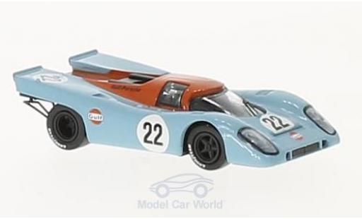 Porsche 917 1970 1/87 Brekina K No.22 Gulf Team John Wyer Gulf 24h Le Mans D.Hobbs/M.Hailwood miniature
