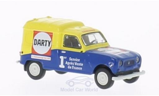 Renault 4 L 1/87 Brekina R Fourgonnette Darty miniature