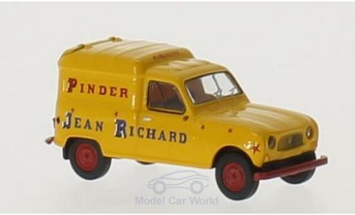 Renault 4 L 1/87 Brekina R Fourgonnette Pinder Jean Richard miniatura