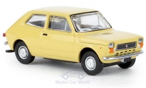 Fiat 127 1/87 Brekina beige 1971 diecast model cars