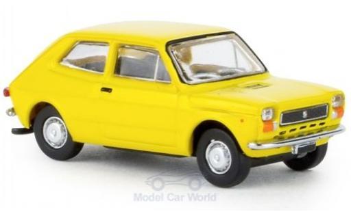 Fiat 127 1/87 Brekina yellow 1971 diecast model cars