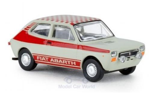 Fiat 127 1/87 Brekina grey Abarth 1971 diecast model cars