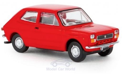 Fiat 127 1/87 Brekina red 1971 diecast model cars