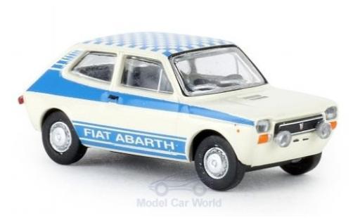Fiat 127 1/87 Brekina white Abarth 1971 diecast model cars