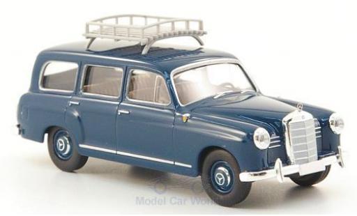 Mercedes 180 1/87 Brekina Kombi bleue mit Dachgepäckträger miniature