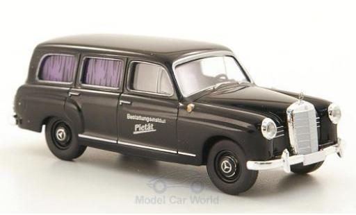 Mercedes 180 1/87 Brekina Kombi noire Bestattungsinstitut Pietät miniature