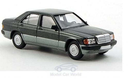 Mercedes 190 E 1/87 Brekina D (W201) metallise verte miniature