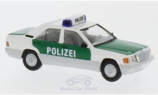 Mercedes 190 E 1/87 Brekina Polizei Stuttgart mit Dachkennung S-2375 diecast model cars
