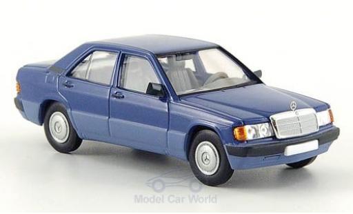 Mercedes 190 E 1/87 Brekina (W201) blue 1988 diecast model cars
