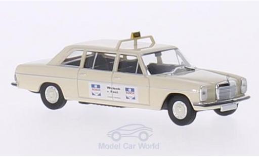 Mercedes 220 1/87 Brekina Starmada D Lang (V115) beige Taxi (D) / Wulsch miniature