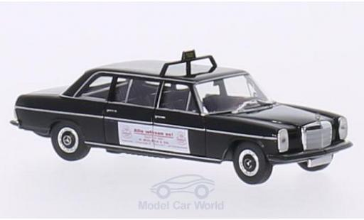 Mercedes 220 1/87 Brekina Starmada D Lang (V115) noire Taxi (D) / Wulsch miniature