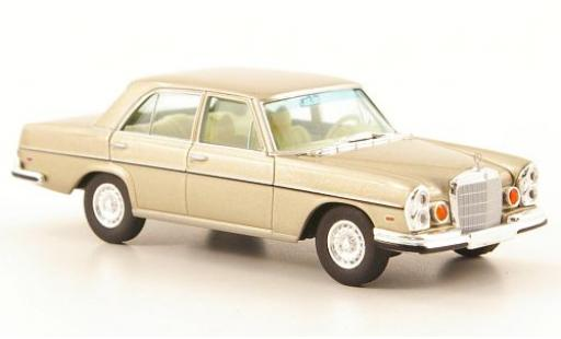 Mercedes 280 1/87 Brekina Starmada SE 4.5 (W108) gold US-Version diecast
