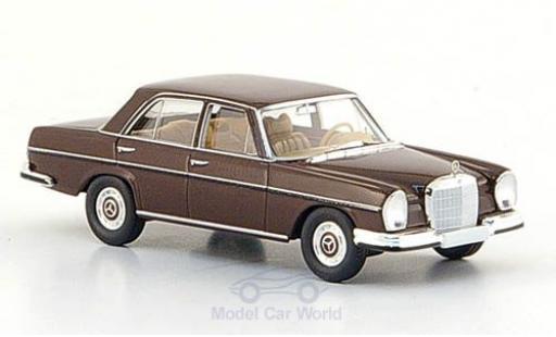 Mercedes 280 SE 1/87 Brekina (W108) brown 1965 diecast model cars