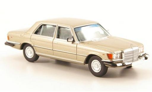 Mercedes 450 1/87 Brekina Starmada SEL (W116) gold US-Version miniature