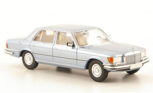 Mercedes 450 1/87 Brekina SEL (W116) metallise bleue miniature