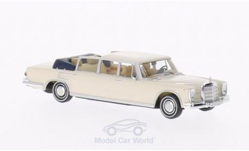 Mercedes 600 1/87 Brekina Landaulet white Verdeck geöffnet diecast model cars