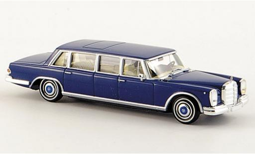 Mercedes 600 1/87 Brekina Pullman Limousine bleue miniature
