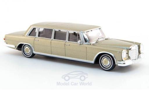 Mercedes 600 1/87 Brekina Pullman Limousine gold miniature