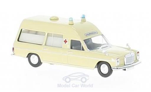 Mercedes /8 1/87 Brekina beige Krankenwagen ohne Vitrine diecast model cars