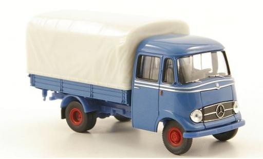 Mercedes L319 1/87 Brekina Pritsche bleue miniature