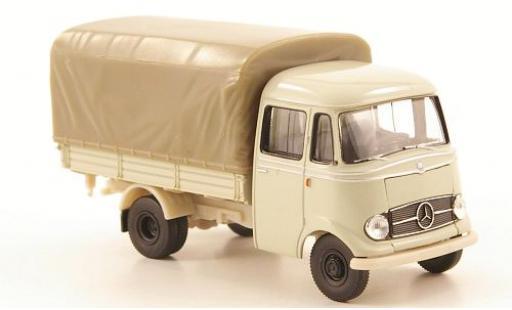Mercedes L319 1/87 Brekina Pritsche blanche miniature