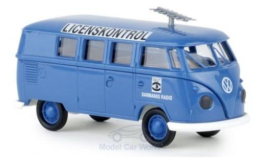 Volkswagen T1 1/87 Brekina b Kombi Danmarks Radio modellautos