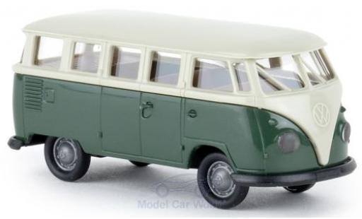 Volkswagen T1 1/87 Brekina b Mindersamba grise/verte Economy miniature