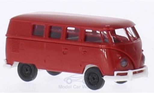 Volkswagen T1 1/87 Brekina b rot/weiss Kombi modellautos