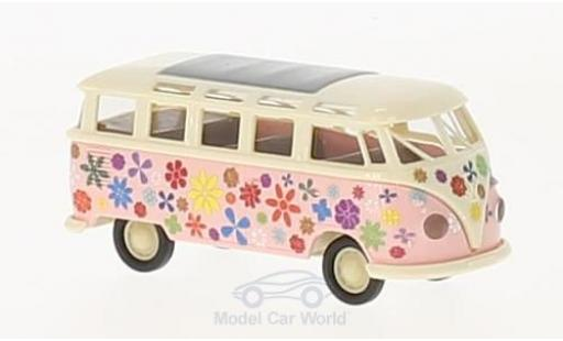 Volkswagen T1 1/87 Brekina b Samba Flower Power modellautos