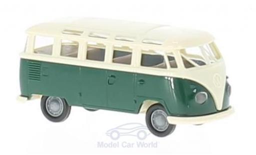 Volkswagen T1 B 1/87 Brekina b Samba verte/beige miniature