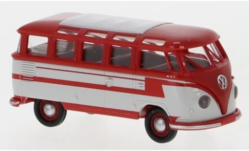 Volkswagen T1 1/87 Brekina b Samba rot/grau 1960 modellautos