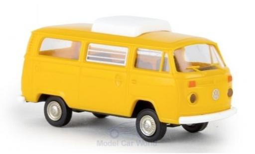 Volkswagen T2 1/87 Brekina Camper yellow 1973 mit Hubdach diecast