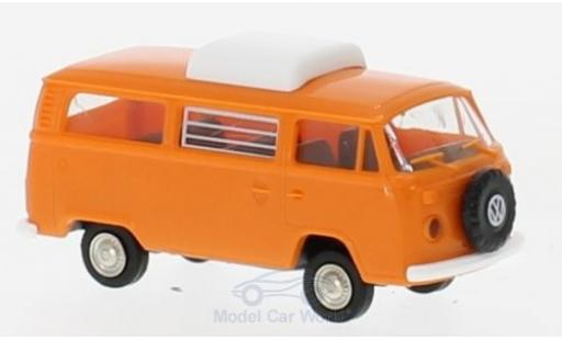 Volkswagen T2 B 1/87 Brekina Camper orange mit Hubdach diecast