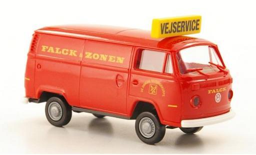 Volkswagen T2 1/87 Brekina Kasten Falck & Zonen Vejservice (DK) miniature