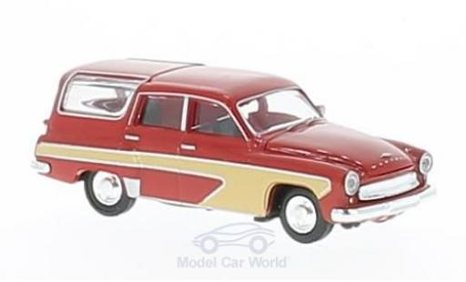 Wartburg 311 1/87 Brekina Camping rouge/beige miniature