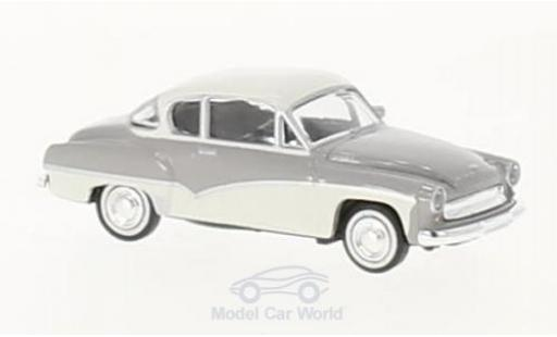 Wartburg 311 1/87 Brekina Coupe grise/blanche miniature